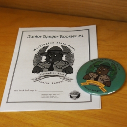 Jr Ranger workbook and badge