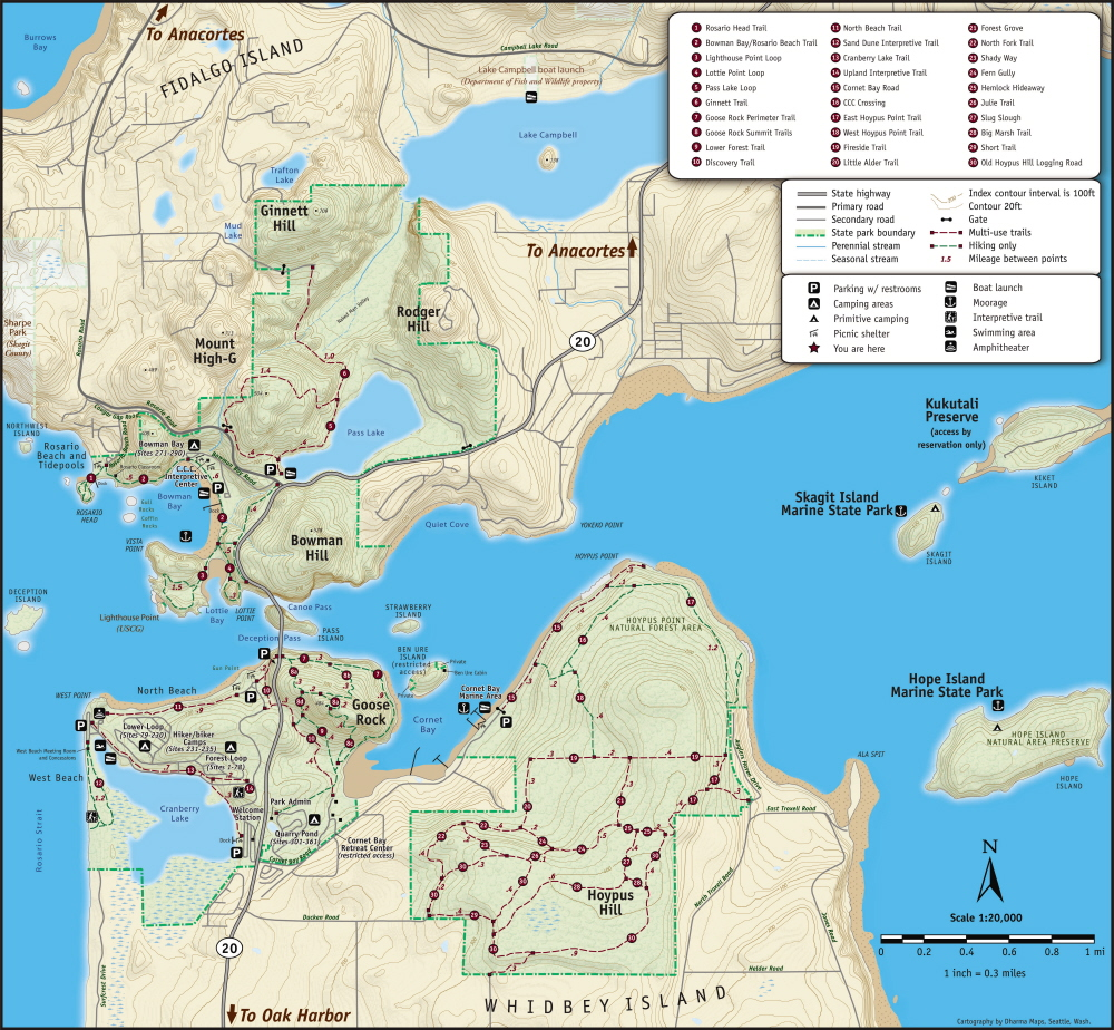 Deception Pass State Park Map