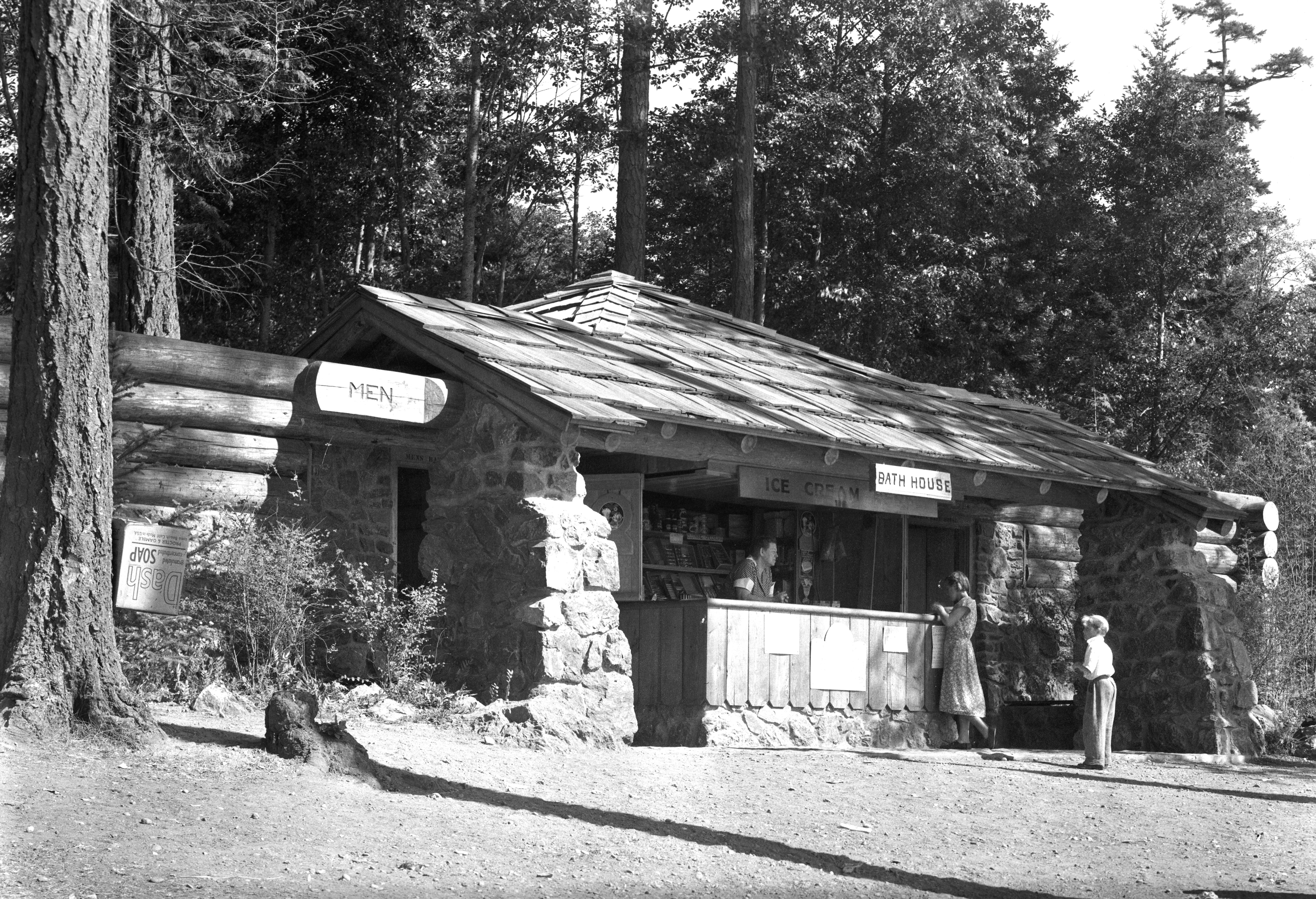 cranberry lake shelter in the 1930s deception pass park foundation